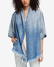 DKNY Cotton Draped Denim Jacket, Created for Macy's