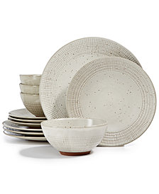 Lucky Brand Rustic Weave 12-pc. Dinnerware Set, Service for 4, Created for Macy's