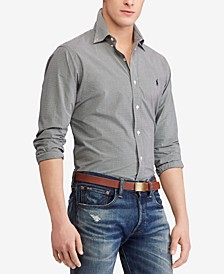 Men's Slim Fit Check Poplin Stretch Shirt