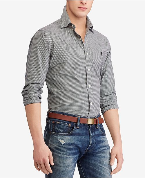 Polo Ralph Lauren Men's Classic Fit Poplin Shirt, Regular and Big & Tall