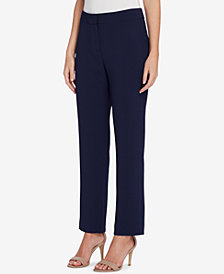 Tahari ASL Straight-Leg Pants, Regular & Petite