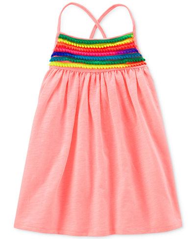 Carter's Pom Pom-Trim Dress, Little & Big Girls
