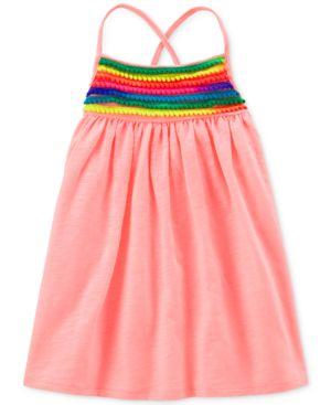 Carter's Pom Pom-Trim Dress, Little & Big Girls 5280636