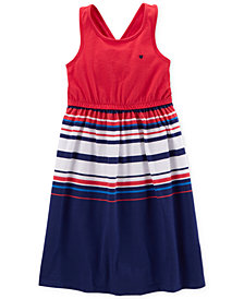 Carter's Striped Cotton Tank Dress, Little & Big Girls