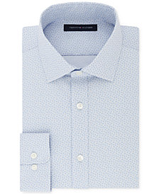 Tommy Hilfiger Flex Athletic Fit Stretch Moisture Wicking Performance Print Dress Shirt