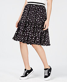 NICOPANDA Tiered Floral-Print Skirt, Created for Macy's