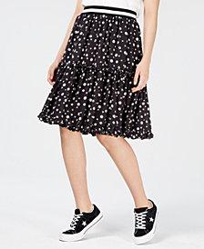 NICOPANDA Tiered Floral-Print Skirt, Created for Macy's