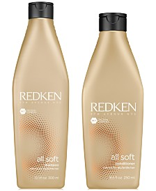 Redken All Soft Shampoo, 10.1-oz. & Conditioner, 8.5-oz. (Two Items), from PUREBEAUTY Salon & Spa