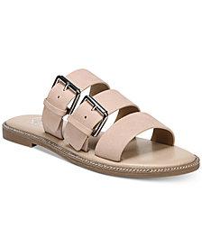 Franco Sarto Kasa Strappy Slip-On Flat Sandals