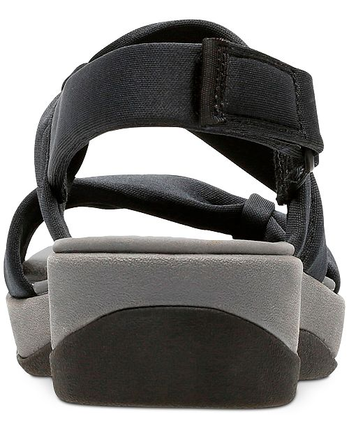18a12fda7224 ... Clarks Collection Women s Cloudsteppers Arla Mae Wedge Sandals ...