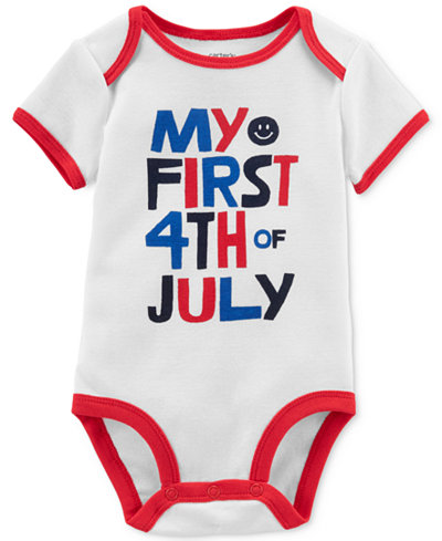 Carter's Graphic-Print Cotton Romper, Baby Boys or Girls