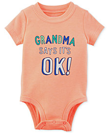 Carter's Graphic-Print Bodysuit, Baby Boys