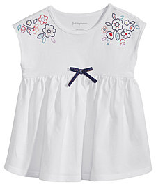 First Impressions Embroidered Cotton Top, Baby Girls, Created for Macy's
