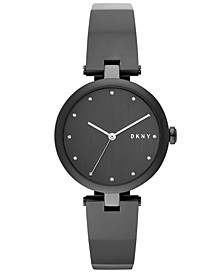 Women's Eastside Black Stainless Steel Bangle Bracelet Watch 34mm, Created for Macy's