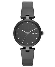 DKNY Women's Eastside Black Stainless Steel Bangle Bracelet Watch 34mm, Created for Macy's