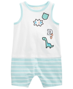 First Impressions GraphicPrint Cotton Romper Baby Boys Created for Macys