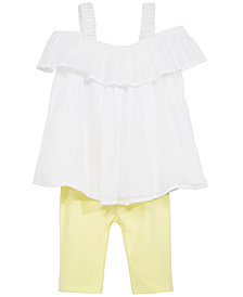 First Impressions Baby Girls 2-Pc. Off-the-Shoulder Tunic & Leggings, Created for Macy's