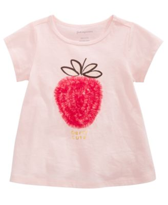 Baby Girls Strawberry T-Shirt, Created for Macy's