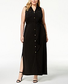 Plus Size Maxi Shirtdress