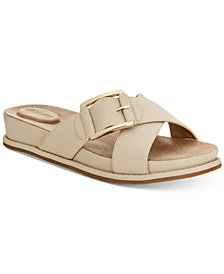 Giani Bernini Balii Slide-On Memory Foam Wedge Sandals, Created for Macy's