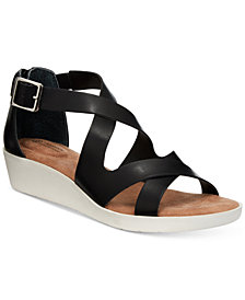 Giani Bernini Fayee Memory Foam Wedge Sandals, Created for Macy's