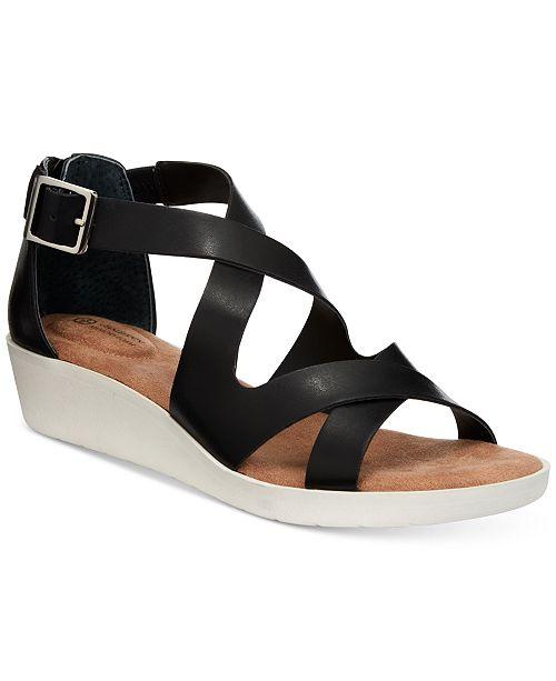 72d341dc2b Giani Bernini Fayee Memory Foam Wedge Sandals, Created for ...