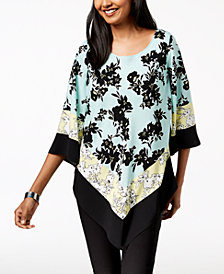 Alfani Petite Pointed-Hem Top, Created for Macy's