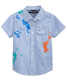 Tommy Hilfiger Splash Cotton Shirt, Toddler Boys