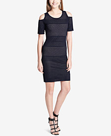 Calvin Klein Pointelle Cold-Shoulder Dress