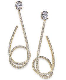 Danori Crystal & Pavé Twist Drop Earrings, Created for Macy's