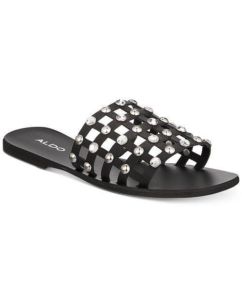 fbffb4d4c3f ALDO Unterman Embellished Slide Sandals   Reviews - Sandals ...