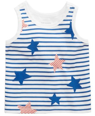 Striped Cotton Tank Top, Baby Boys, Created for Macy's