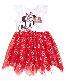 Disney's® Minnie Mouse Handkerchief-Hem Birthday Dress, Little Girls