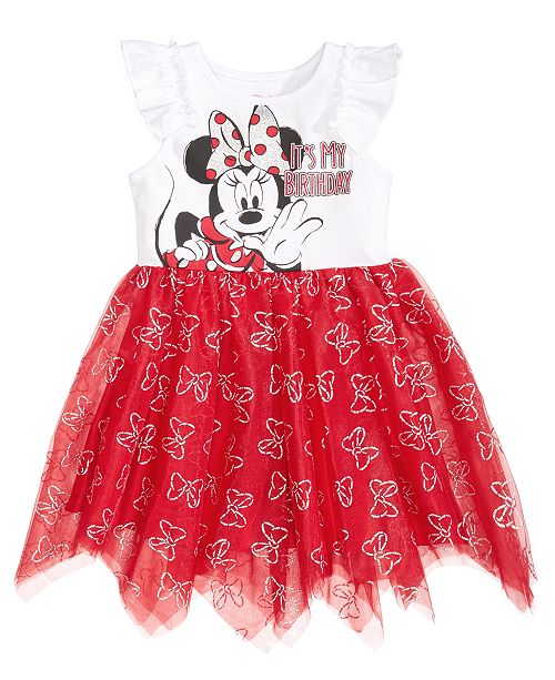 Disney Minnie Mouse Handkerchief Hem Birthday Dress Toddler Girls