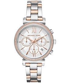 Michael Kors Women's Chronograph Sofie Two-Tone Stainless Steel Bracelet Watch 39mm