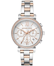 Michael Kors Women's Chronograph Sofie Two-Tone Stainless Steel Bracelet Watch 39mm