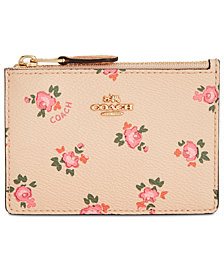 COACH Mini Skinny ID Case in Floral Bloom