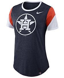 Nike Women's Houston Astros Tri-Blend Crew T-Shirt