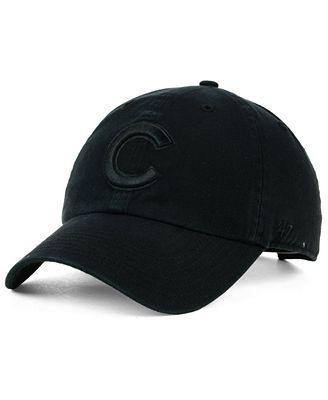 '47 Brand Chicago Cubs Black on Black CLEAN UP Cap