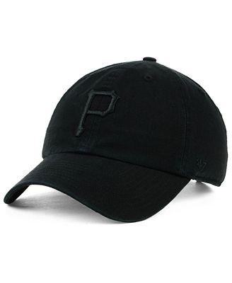 '47 Brand Pittsburgh Pirates Black on Black CLEAN UP Cap