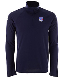adidas Men's New York Rangers Secondary Logo Climatelite Quarter-Zip Pullover