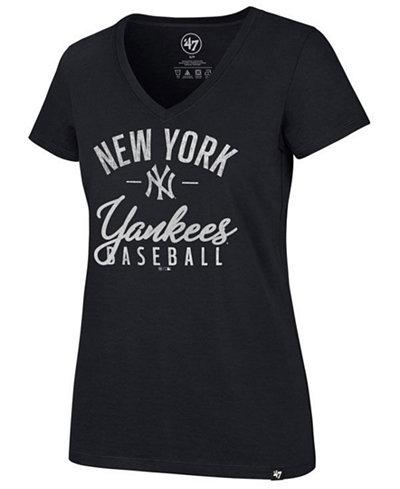 '47 Brand Women's New York Yankees Ultra Rival Metallic Script T-Shirt