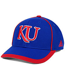 adidas Kansas Jayhawks Piping Hot Adjustable Cap