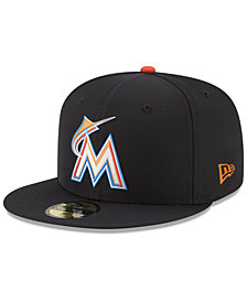 New Era Boys' Miami Marlins Batting Practice Prolight 59FIFTY FITTED Cap