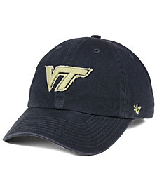 '47 Brand Virginia Tech Hokies Double Out CLEAN UP Cap