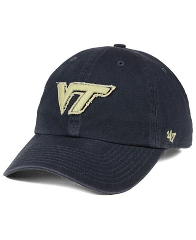 '47 Brand Virginia Tech Hokies Double Out CLEAN UP Cap