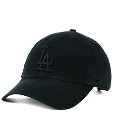 '47 Brand Los Angeles Dodgers Black on Black CLEAN UP Cap