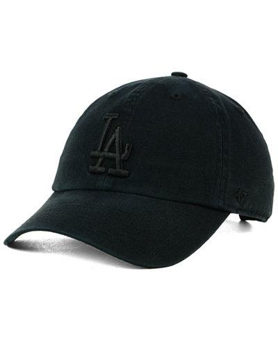 '47 Brand Los Angeles Dodgers Black on Black CLEAN UP Cap
