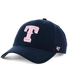 '47 Brand Texas Rangers Navy Pink MVP Cap