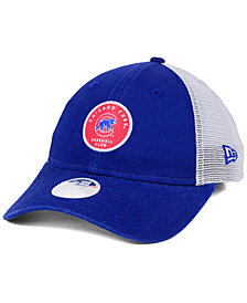 New Era Women's Chicago Cubs Washed Trucker 9TWENTY Cap